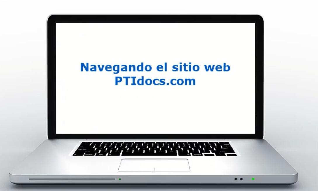 Navegando el sitio web PTIdocs