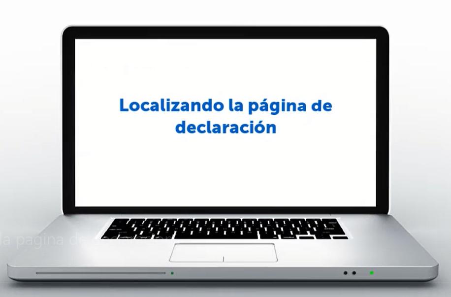Localizando la pagina de declaracion