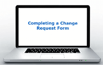 Completing a Change Request Form