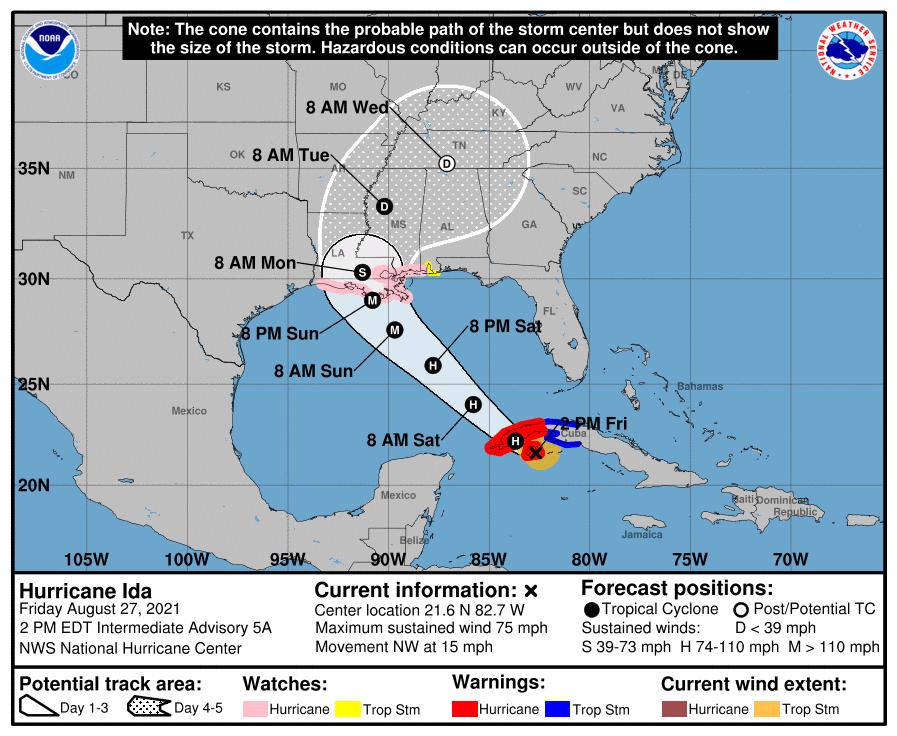 Underwriting Restrictions – Tropical Storm Ida